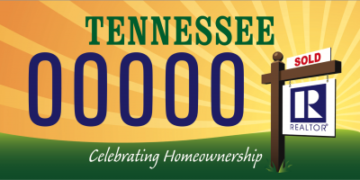 TN License Plate - Celebrate Home Ownership