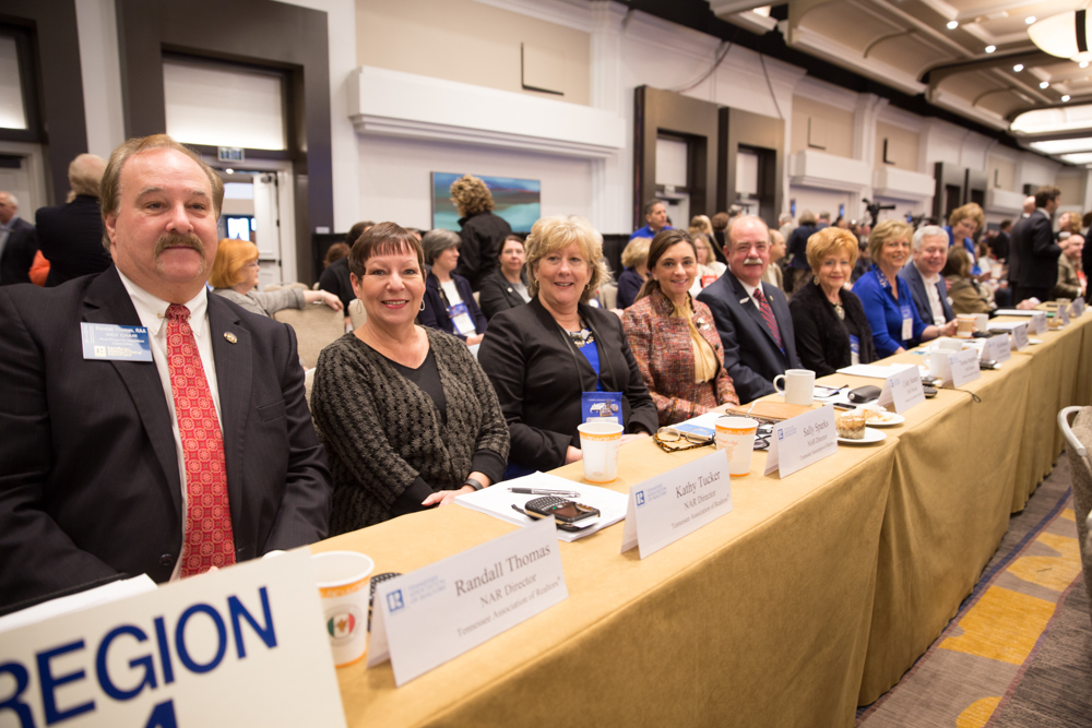 Tennessee's voting delegates at the 2015 NAR Board of Directors Meeting in San Diego.