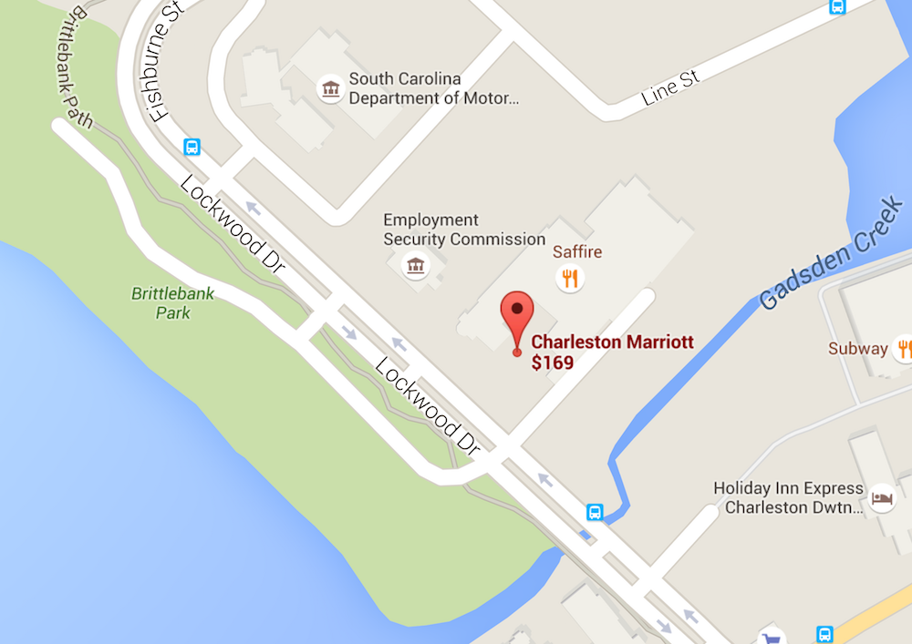 Charleston Marriott map