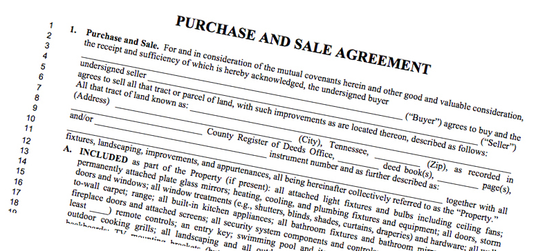 Changes To Purchase  Sale Agreement  Tn Realtors